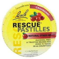 Bach Original Flower Remedies Rescue Remedy Pastilles Cranberry 1 7 Oz