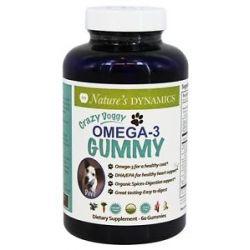 Nature's Dynamics Crazy Doggy Gummy Omega 3 60 Gummies