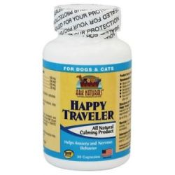 Ark Naturals Happy Traveler Pet Calmer for Cats Dogs 30 Capsules