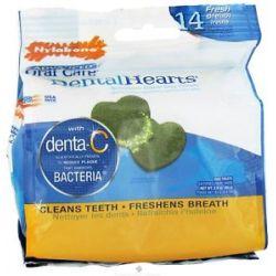 Nylabone Advanced Oral Care Dental Hearts Dog Chews 14 Piece S