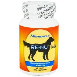 Membrell re Nu Canine Natural Eggshell Membrane NEM 60 Tablets