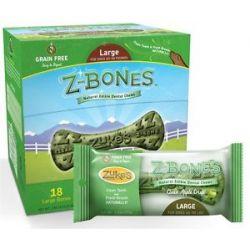 Zuke's Z Bones Natural Edible Dental Chews Large Clean Apple Crisp 2 5 Oz