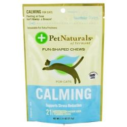 Pet Naturals of Vermont Calming Support for Cats Soft Chews 21 Chewables