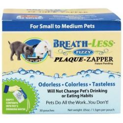 Ark Naturals Breath Less Fizzy Plaque Zapper for Small to Medium Pets 30