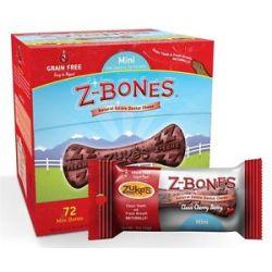 Zuke's Z Bones Natural Edible Dental Chews Mini Clean Cherry Berry 0 5 Oz