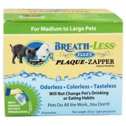 Ark Naturals Breath Less Fizzy Plaque Zapper for Medium to Large Pets 30