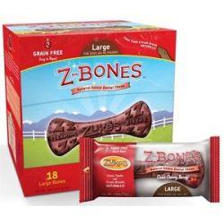 Zuke's Z Bones Natural Edible Dental Chews Large Clean Cherry Berry 2 5 Oz