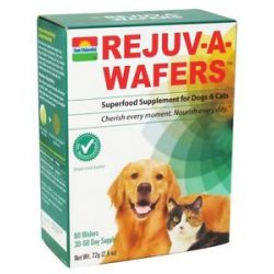 Sun Chlorella Rejuv A Wafers Superfood Supplement for Cats Dogs 60 Wafers