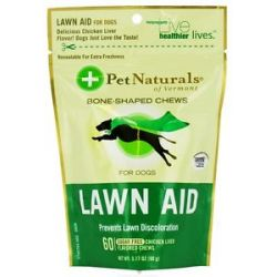 Pet Naturals of Vermont Lawn Aid for Dogs Chicken Liver Flavored 60 Chews