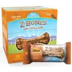 Zuke's Z Bones Natural Edible Dental Chews Mini Clean Carrot Crunch 0 5 Oz