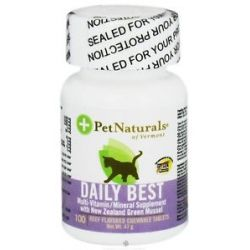 Pet Naturals of Vermont Daily Best for Cats Beef Flavored 100 Chewable
