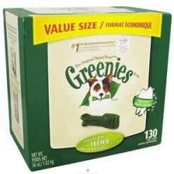 Greenies Dental Chews for Dogs Teenie for Dogs 5 15 lbs 130 Chew S
