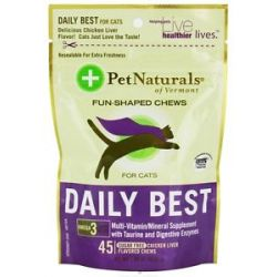 Pet Naturals of Vermont Daily Best for Cats Soft Chews Chicken Liver Flavored