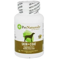 Pet Naturals of Vermont Skin Coat Support for Dogs Chicken Flavored Tablets