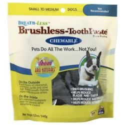 Ark Naturals Breath Less Chewable Brushless Toothpaste for Small to Medium