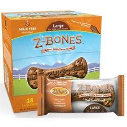 Zuke's Z Bones Natural Edible Dental Chews Large Clean Carrot Crunch 2 5 Oz