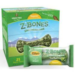 Zuke's Z Bones Natural Edible Dental Chews Regular Clean Apple Crisp 1 5 Oz