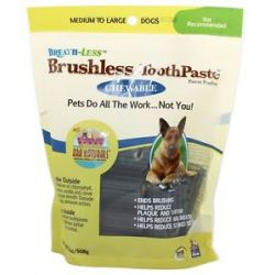 Ark Naturals Breath Less Chewable Brushless Toothpaste for Medium to Large