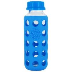 Lifefactory Glass Beverage Bottle with Silicone Sleeve Ocean Blue 9 Oz