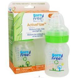 Bornfree Active Flow Eco Deco Baby Bottle BPA Free Twin Pack 2 x 5 Oz