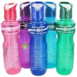 New Wave Enviro Products Water Bottle Made from Eastar Resin Assorted Colors