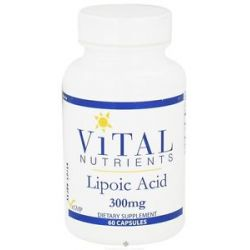 Vital Nutrients Lipoic Acid 300 MG 60 Capsules