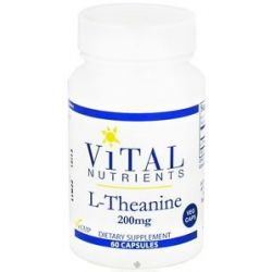 Vital Nutrients L Theanine 200 MG 60 Vegetarian Capsules