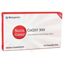 Metagenics Nutra Gems CoQ10 300 MG 30 Chewable Gels 755571930637