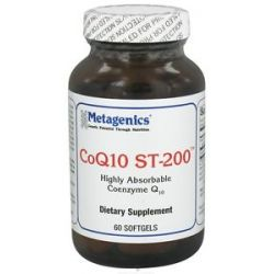 Metagenics CoQ10 St 200 Highly Absorbable Coenzyme Q10 200 MG 60 Softgels