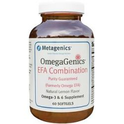 Metagenics Omegagenics EFA Combination Natural Lemon Flavor 60 Softgels