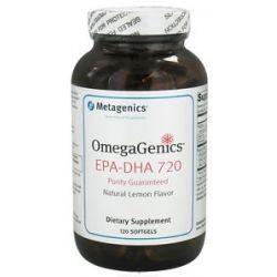 Metagenics Omegagenics EPA DHA 720 Natural Lemon Flavor 120 Softgels