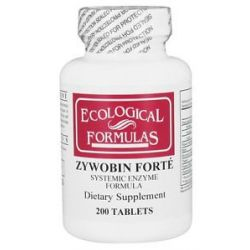 Ecological Formulas Zywobin Forte Systemic Enzyme Formula 200 Tablets