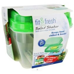 Fit Fresh Salad Shaker with Removable Ice Pack