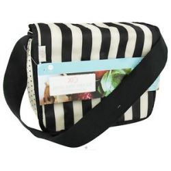 XO Eco Eco Cafe Tote Tuxedo Stripe CLEARANCE Priced