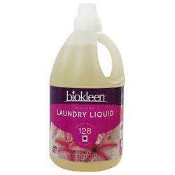Biokleen Cold Water Laundry Liquid Grapefruit Seed Orange Peel Extract 64