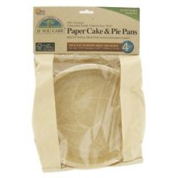 If You Care Paper Cake Pie Pans Unbleached Totally Chlorine Free TCF 4