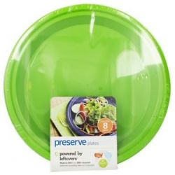 Preserve Reusable Recycled Plastic Plates Large 10 5 inch Apple Green 8
