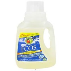 Earth Friendly Ecos 2X Ultra Laundry Detergent Magnolia Lily 50 Oz