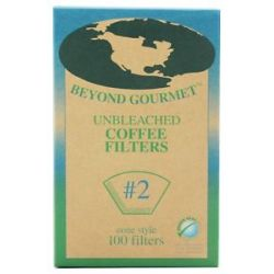 Beyond Gourmet Unbleached Coffee Filters 2 Cone Style 100 Filter S