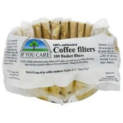 If You Care Coffee Filters 8 inch Basket Unbleached Totally Chlorine Free TCF