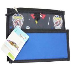 Blue Avocado Fresh Zip Kit Zippered Reusable Lunch Sleeves Boys Skulls Cobalt
