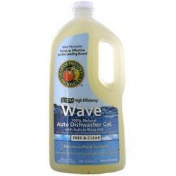 Earth Friendly Wave Auto Dishwasher Gel 100 Natural 2X Ultra High Efficiency
