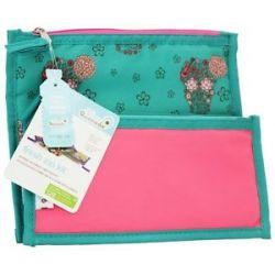 Blue Avocado Fresh Zip Kit Zippered Reusable Lunch Sleeves Girls Skulls Pink