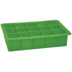 I Play Green Sprouts Silicone Baby Food Freezer Tray 15 x 1 oz Cubes Green