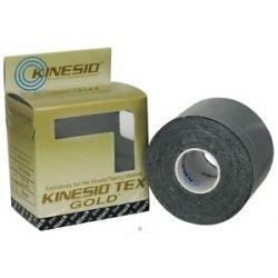 """Kinesio Tex Tape Gold 2"""" w x 16 4' L Black 1 Roll S"""