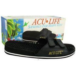 ACU Life Massage Sandals with Velcro M7 W8 Black 1 Pair