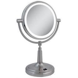 Zadro LED Lighted 5X Vanity Mirror LEDV45 Satin Nickel