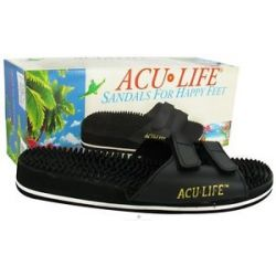 ACU Life Massage Sandals with Velcro M9 W10 Black 1 Pair