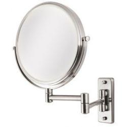 Zadro Dual Sided 5X Wall Mirror OVW45 Satin Nickel