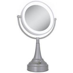 Zadro LED Lighted Round Vanity Mirror LEDSV410 Satin Nickel